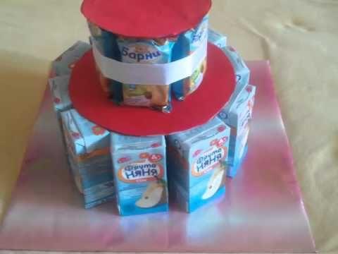 Торт в детский сад: торт из соков и сладостей своими руками | Новостной портал вТЕМУ - всегда полезная информация
