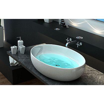 Lavabo Design da Appoggio Nampo in Ceramica cm 56x37x15