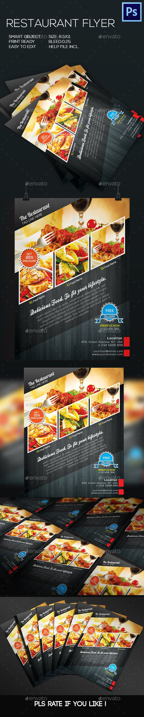 Restaurant Food Flyer Template #design Download: http://graphicriver.net/item/restaurant-food-flyer/8798366?ref=ksioks