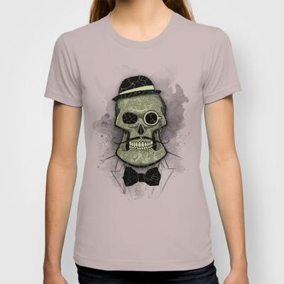 Old Skull T-shirt by Tomas Jordan - $18.00
