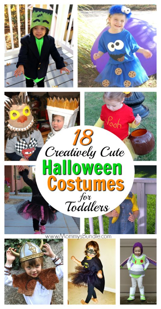 The CUTEST (and super creative) DIY Halloween costumes for toddlers (boys and girls)! Such easy ideas to make the holiday even more fun for kids!