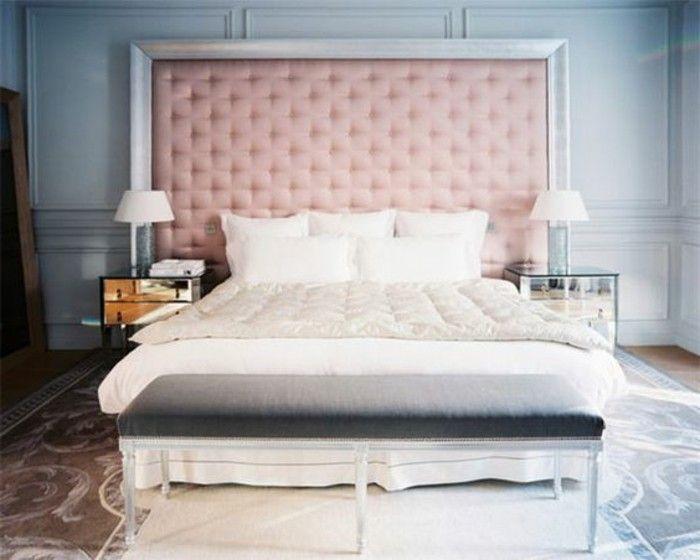 Les 25 meilleures id es concernant lit capitonn sur pinterest la taupe co - Tete de lit laque blanc ...