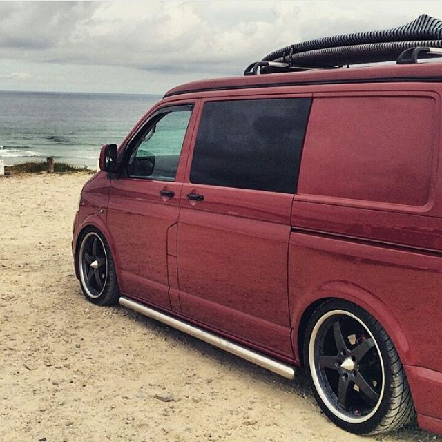 Martin_Taylor 's T5 is sick Modified Vans VW VolksWagen VDUB Vee Dub Transporter T5 Camper Low DownTransporters