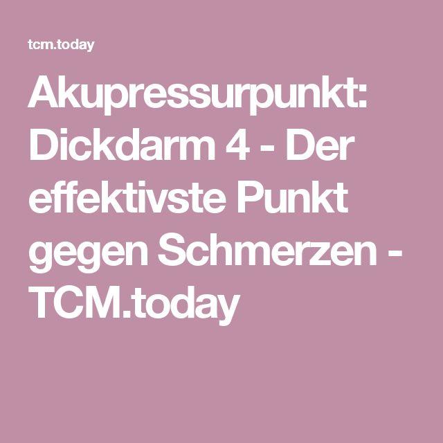 Akupressurpunkt: Dickdarm 4 - Der effektivste Punkt gegen Schmerzen - TCM.today