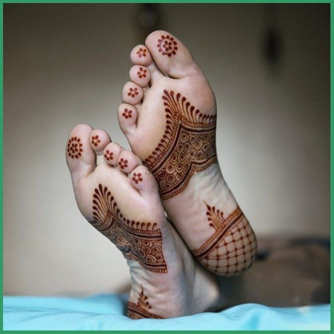36 Stylish And Modern Mehandi Designs For Foot and Legs that you will make you wonder