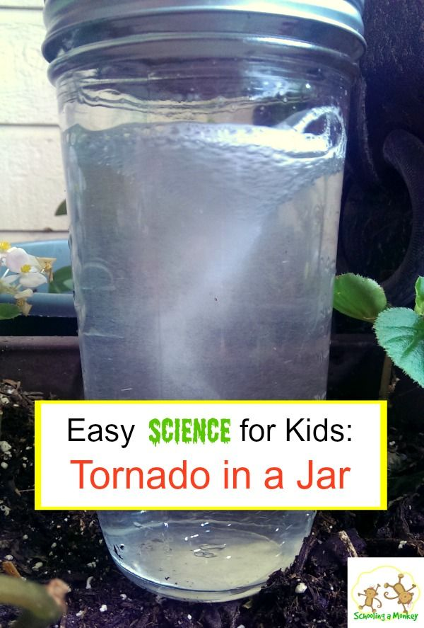 Kids bored? Make them a tornado in a jar! This project is so easy and an excellent way to learn about centripetal force.
