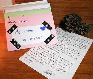 """La semana pasada ya os comenté lo mucho que me enamoran las cartas de verdad, las escrita a mano de toda la vida en el post de regalo fugaz """"carta formal al trabajo"""". Hoy voy a enseñaros un regalo que hace tiempo quería hacerle a mi pareja: las cartas """"ábrela cuando..."""" Se trata de escribir cartas que tu pareja abrirá en momentos determinado ..."""