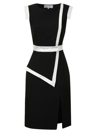 Black and cream bodycon dress - View All Dresses  - Dresses $89.00