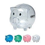 GREAT for Desktop Giveaways, Giveaways for Kids, Bank Giveaways and MUCH MORE! $2.29/each Promotional Plastic Piggy Bank | Customized Piggy Banks | Promotional Piggy Banks