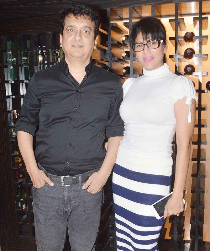 Sajid Nadiadwala with his wife Warda Nadiadwala at designer Jyoti Kapoor's jewellery preview in Mumbai. #Bollywood #Fashion #Style #Beauty