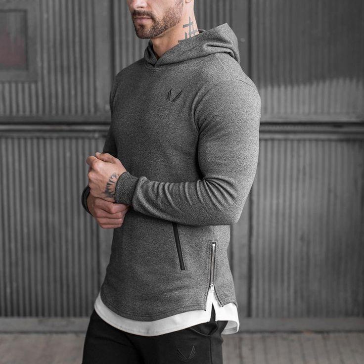 Gymshark Autumn winter new Mens Hoodies Fashion leisure pullover coat fitness jackets Sweatshirts Muscle men sportswear topcoat