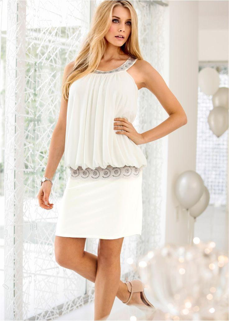 Cocktail-Kleid wollweiß - BODYFLIRT jetzt im Online Shop von bonprix.de ab ? 27,99 bestellen. Punkten Sie bei besonderen Anlässen mit diesem wunderschönen ...