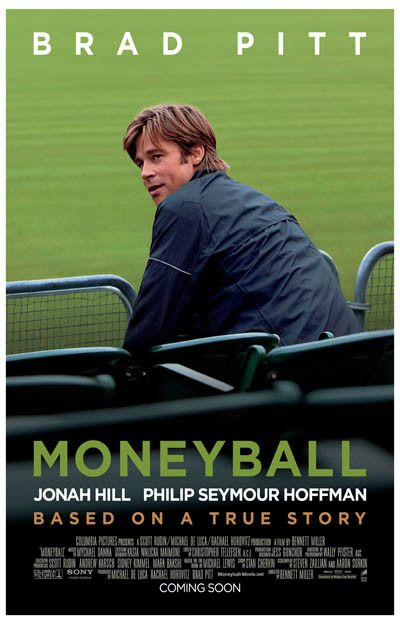 Moneyball Billy Beane Biopic Brad Pitt Movie Poster 11x17