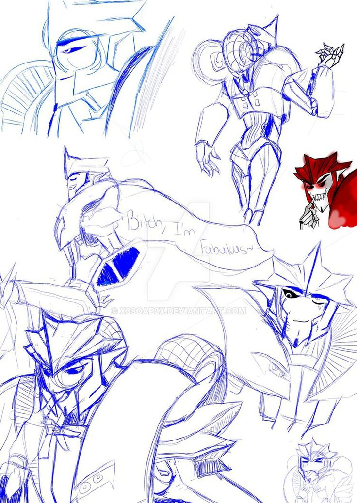 's free sketch, featuring our beloved Decepticon Duo and their sparklings, Side-Step and Nitrus. Okay, so, inside job with the 'World's Worst Dad' balloon- Daran Norris, beloved VA for Knock Out, a...