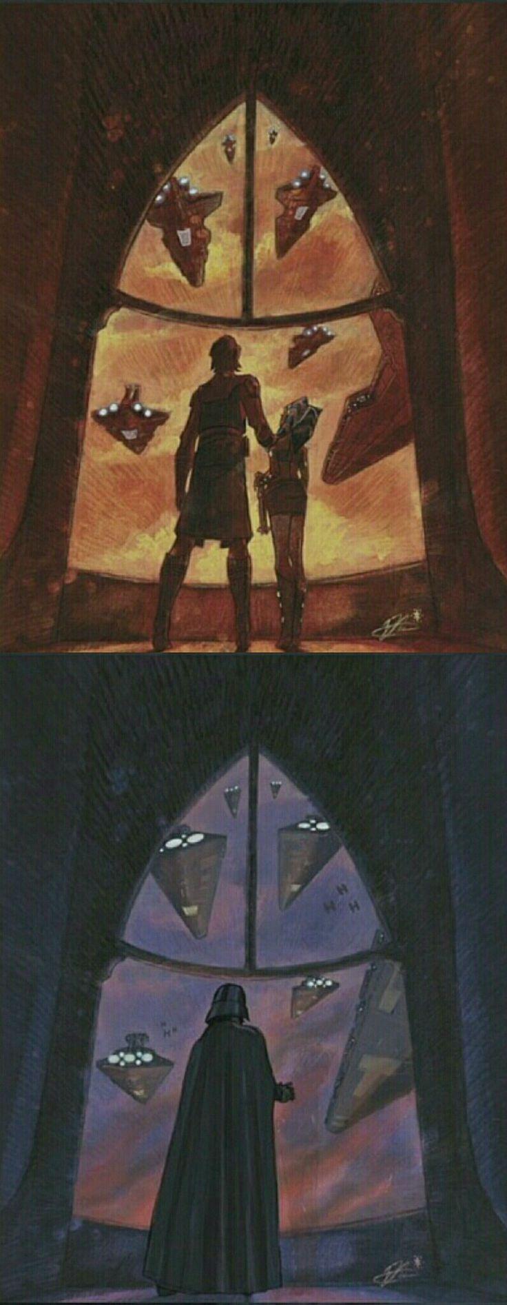How time has changed... | @ddobrdi || (: for more pins follow my board: The Clone Wars | Anakin & Ahsoka