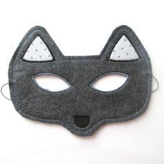 Masque loup en feutrine
