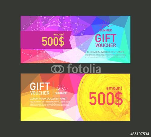 Wektor: Voucher design template. vector