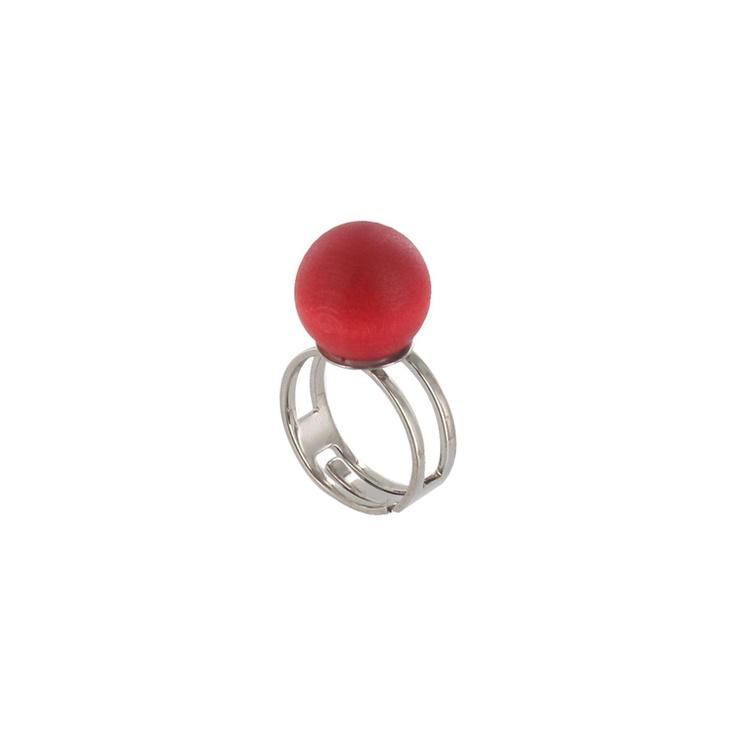 Aarikka - Rings : Paula ring, red