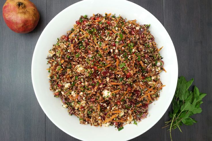 Red Rice and #Quinoa Winter Salad [vegetarian]