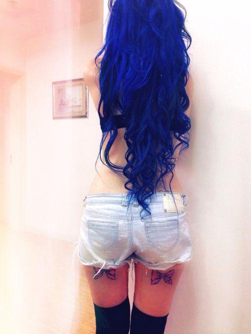 194 besten blue hair bilder auf pinterest bunte haare gef rbte haare und tolle haare. Black Bedroom Furniture Sets. Home Design Ideas