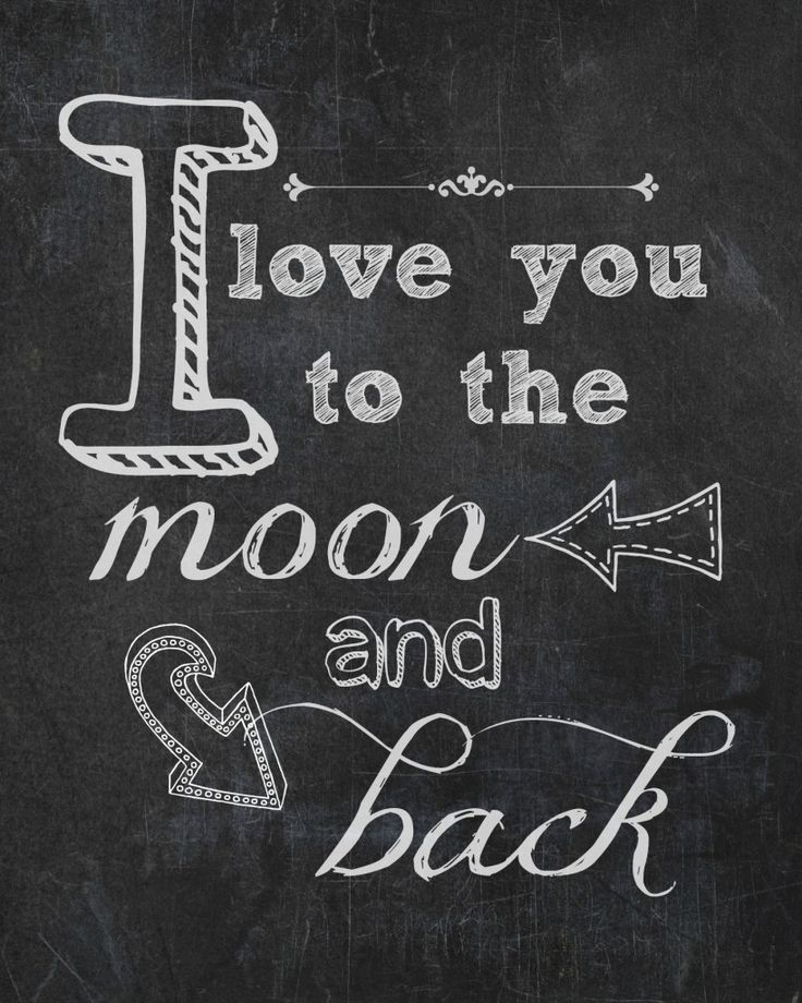 To the moon and back free printable