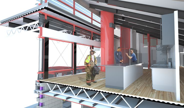 rendered section perspective detail