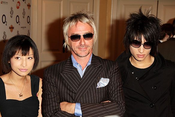 Paul flanked by his children Leah and Natt at the O2 silver clef lunch, Park Lane Hilton, London, 29 June 2007. Photograph: Dave Hogan/Getty