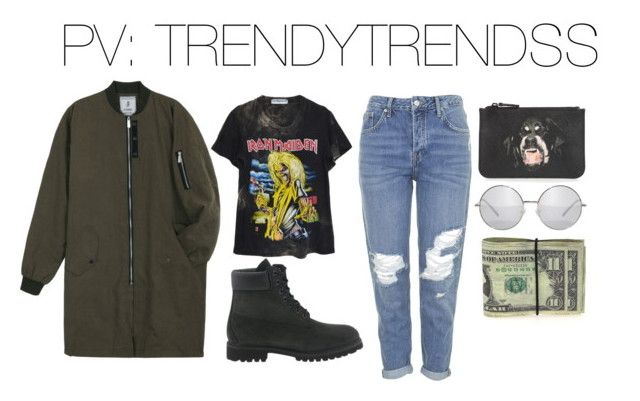 """""""Untitled #18"""" by styldbyd ❤ liked on Polyvore featuring Topshop, Timberland, High Heels Suicide and Givenchy"""