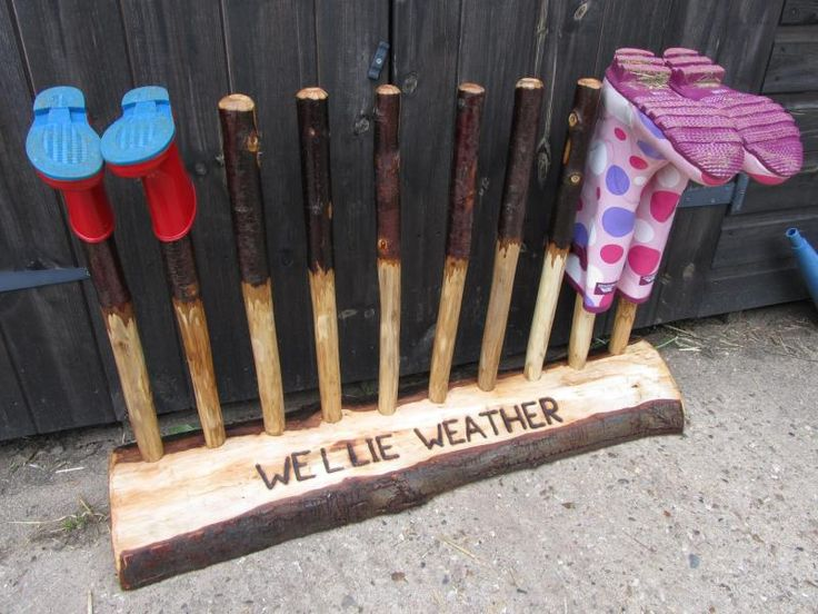 Welly Boot Rack - i have a feeling this will come in handy when we move to Oregon!