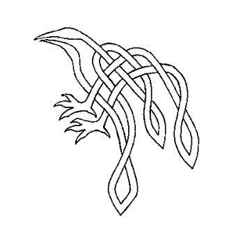 Knotwork Raven