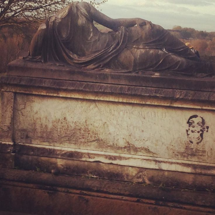 Grrrr. Graffiti on the headless statue. #graffiti #history #art #statuary