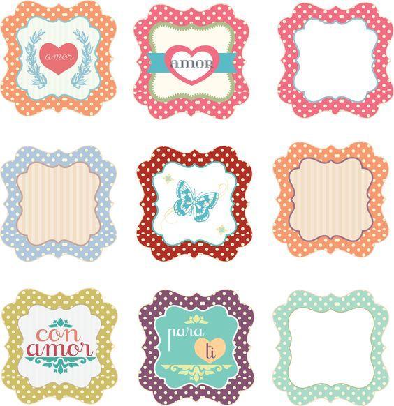 Mejores 942 imágenes de Etiquetas en Pinterest | Imprimibles gratis ...