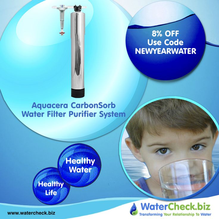 Maintenance free Aquacera Pure Water CarbonSorb CF10 Whole House Water Filter Purifier System provides pure water throughout your house for pennies a day. #water #drinkingwater