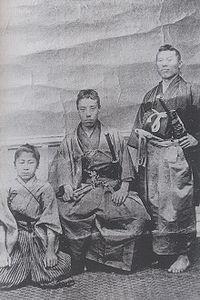 高杉晋作と伊藤博文 山田顕義(少年)