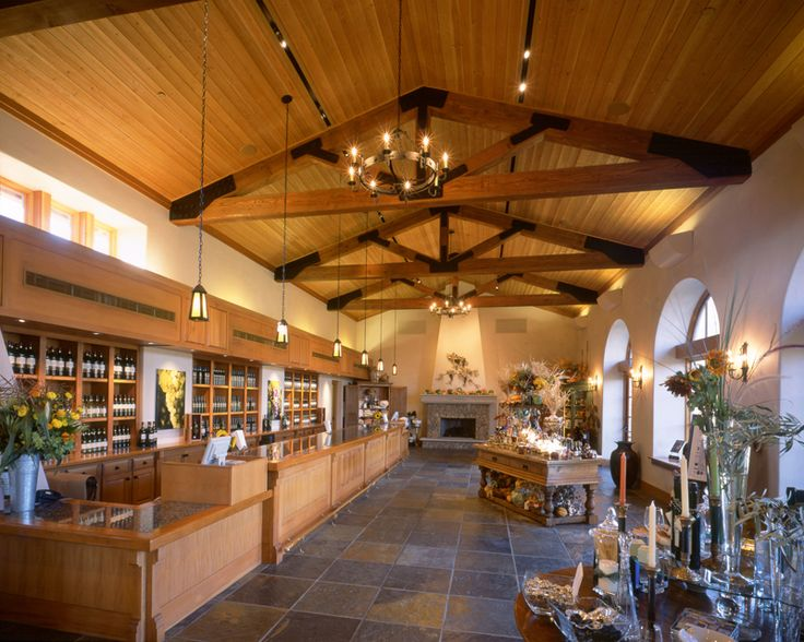 Commercial Wine Tasting Room Design | Click on thumbnails to view larger images