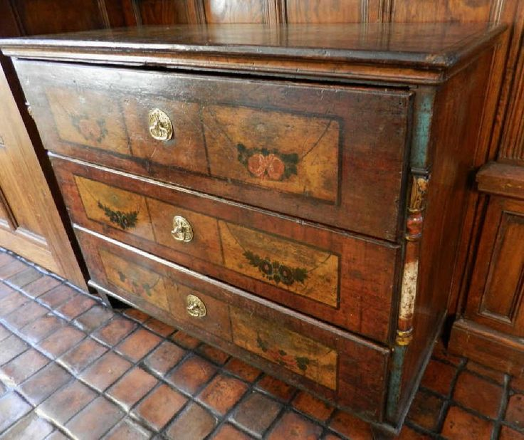 Lot: Antique Continental Three Drawer Chest, Lot Number: 0216, Starting  Bid: Vintage FurnitureClevelandDrawersThirdArt ... - 156 Best Antique & Vintage Furniture Images On Pinterest Auction