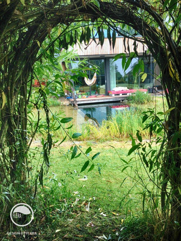#landscape #architecture #garden #natural #water #feature #bio #pond #willow