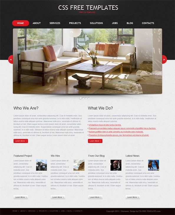 portfolio website css template in black and red color scheme beautiful free html templates templates free html templates html templates