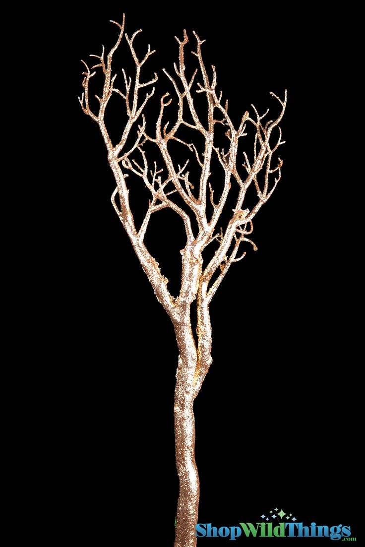 This sparkling, glittered Metallic Gold artificial Manzanita Branch will add some glitz to your floral and centerpiece designs! Making a DIY Wishing Tree