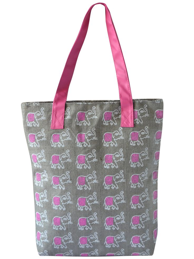 #totebag #jutetotebag #jute #grey #pink Available at www.earthenme.com