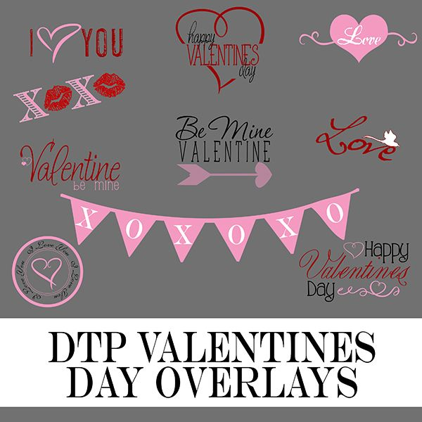 valentine photo overlays