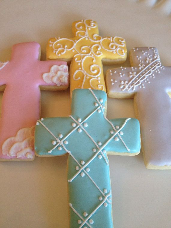 Buy one dozen regular sized cookies, get $2 off the second dozen on orders placed December 16-23  1 dozen cross cookies- choice of 2 designs
