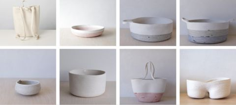 Woven baskets at Fieldstudy from  Picot Collective Blog