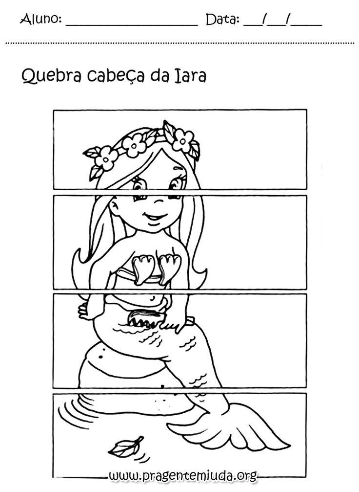 Projeto folclore - quebra cabeça da iara | Pra Gente Miúda
