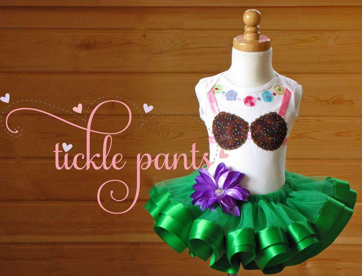 Hula Girl Coconut Bra Hawaiian Tutu Collection by TicklePants, $65.99