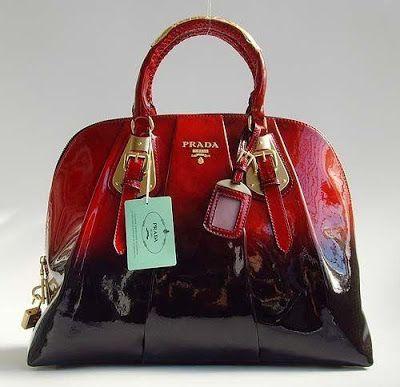 Prada Ombre Patent Leather Vernice Bowler