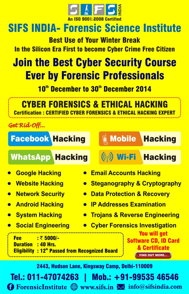 17 best Cyber Forensic Ethical Hacking Courses images on Pinterest ...