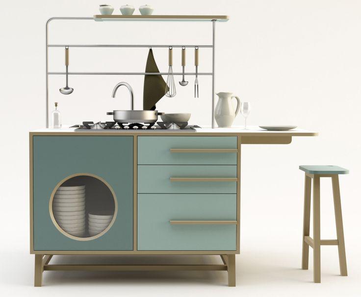 Cucina Monoblocco_ Happy Kitchen by Joe Velluto for DESIGNMOOD