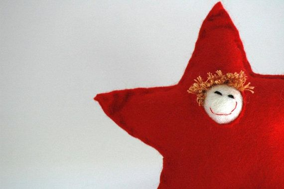 Red Snowperson Christmas Decoration or Ornament by TheNataleStore, $10.30