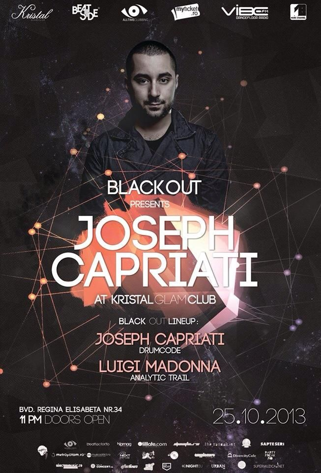 Our first BlackOut party - Bucharest - Joseph Capriati the techno master.